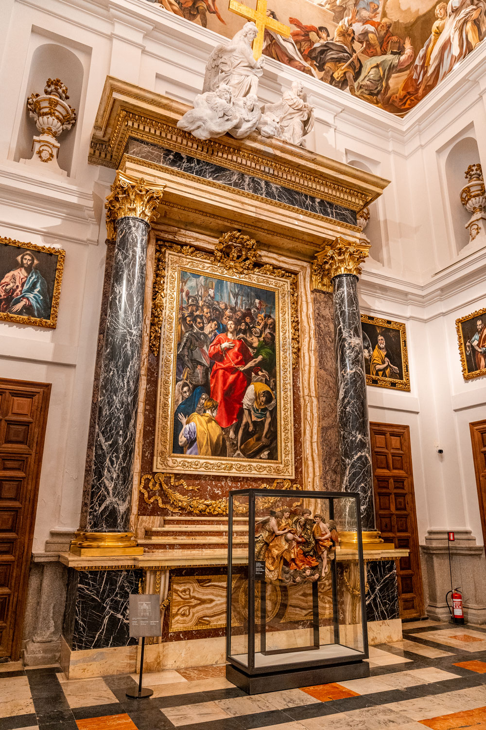 The Disrobing of Christ painting by El Greco at the Toledo Cathedral