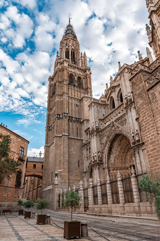 Impressive view to Toledo Cathedral