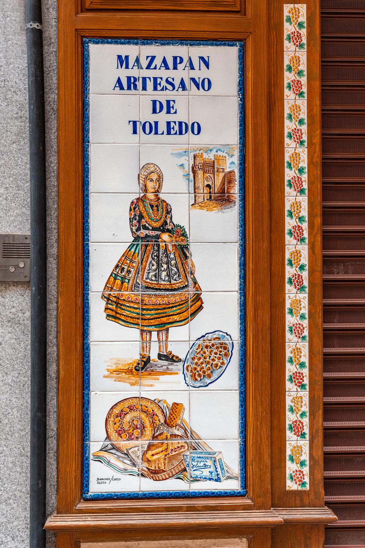 Artisan marzipan sign in Toledo