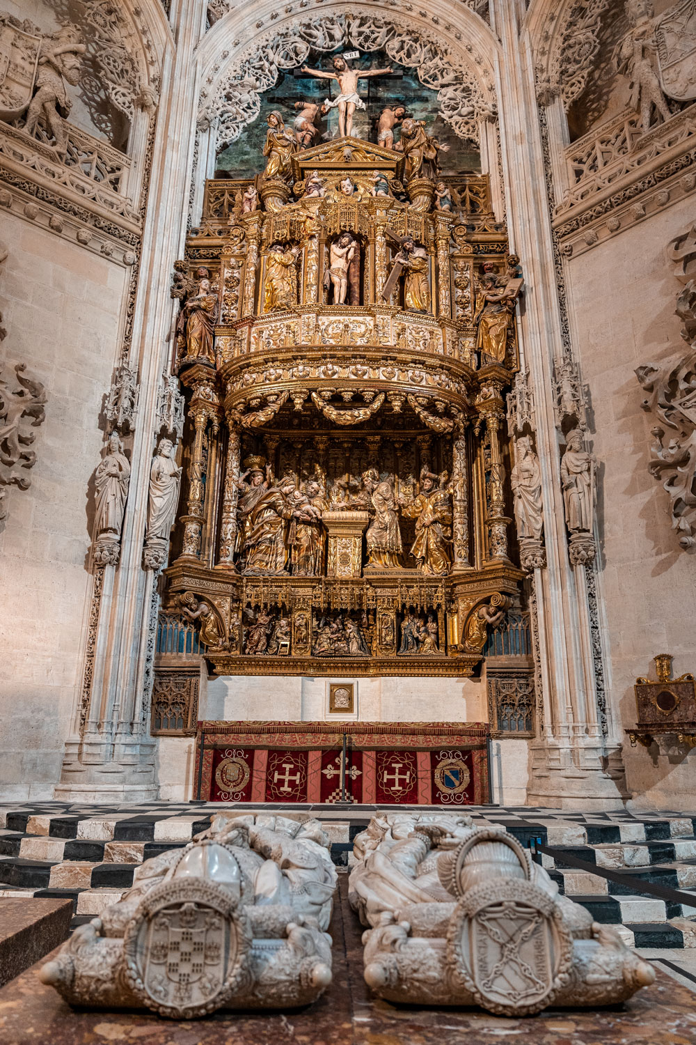 Tomb in the Gothic Cathedral of Burgos