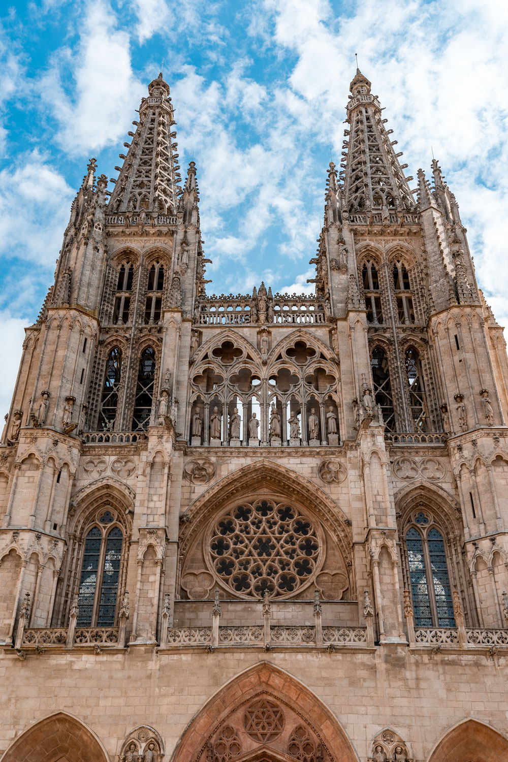 Cathedral of Burgos impressive towers