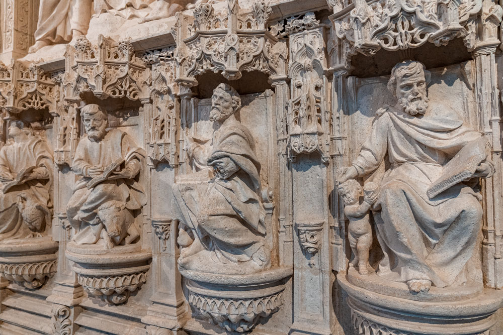 Wall artifacts inside the Cathedral of Saint Mary of Burgos