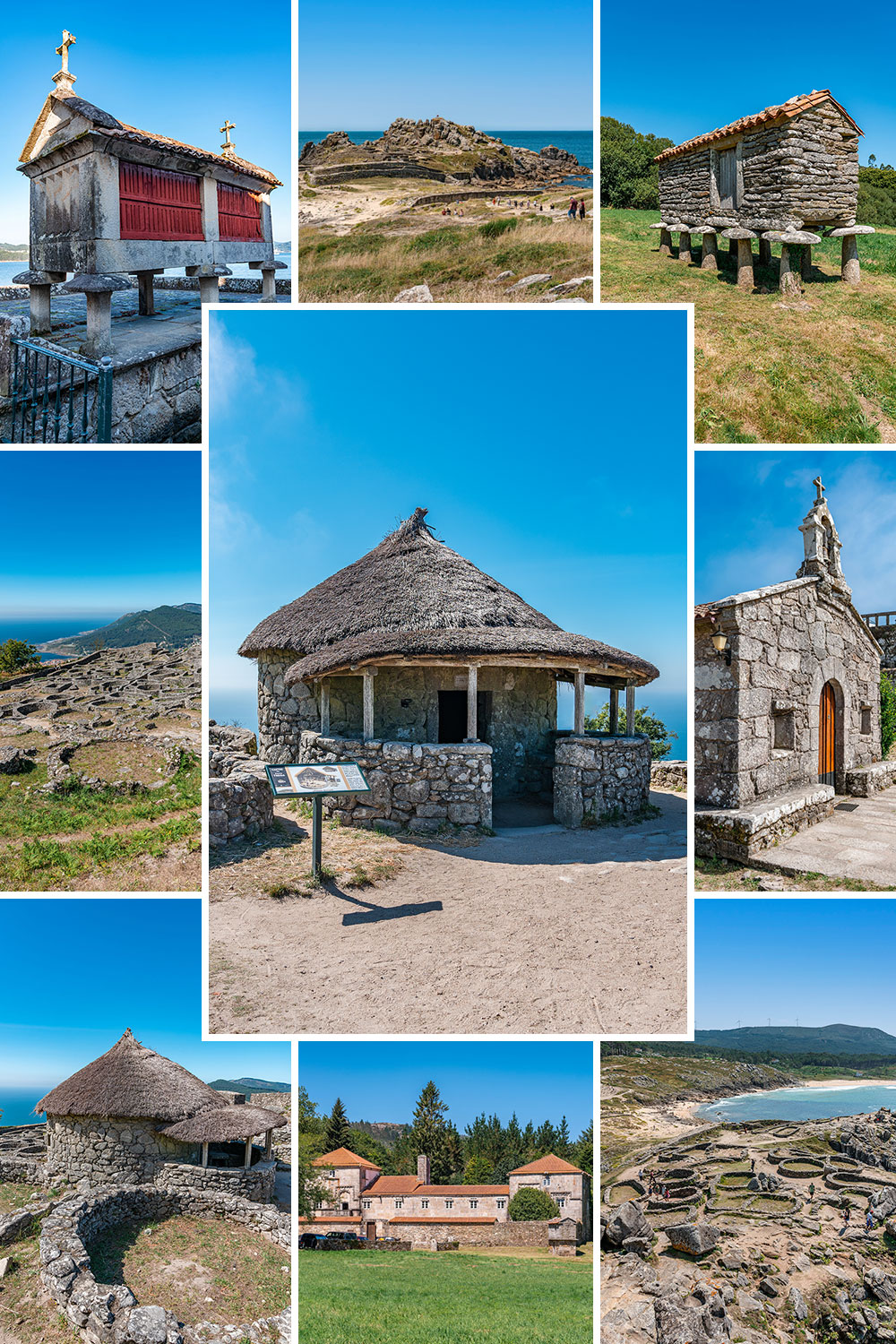 Picture Collage of Hidden Gems in Galicia, Spain