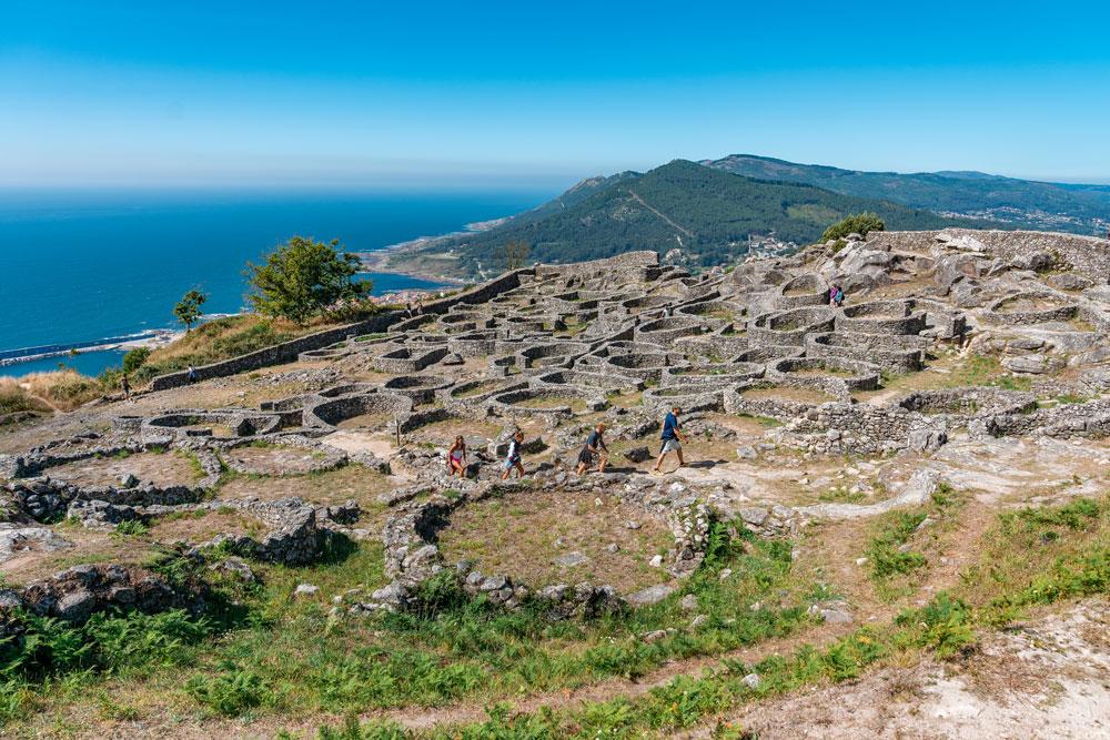 Castro de Santa Trega in Galicia, Spain