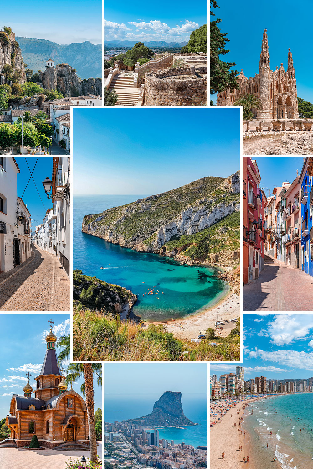 Picture collage of Costa Blanca Best Places