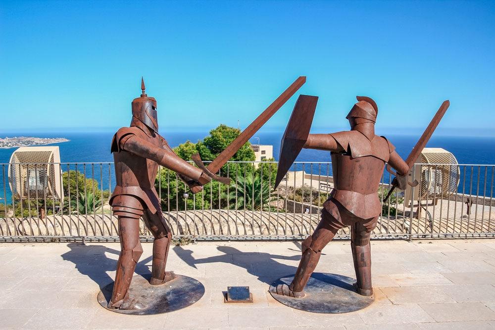 Knights at Santa Barbara Castle, Alicante