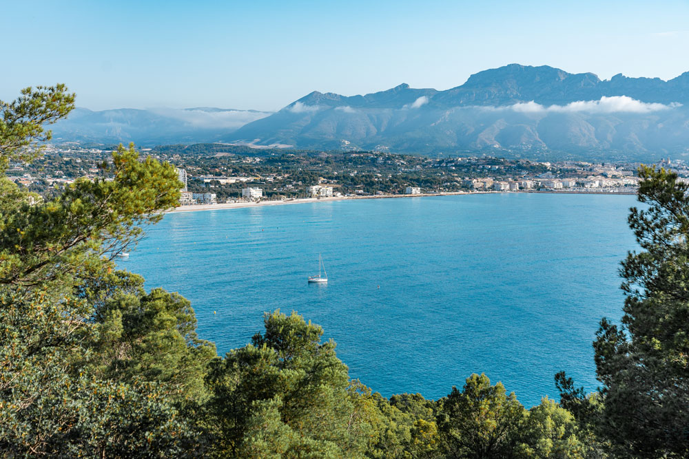 View from Albir Lighthouse to Altea